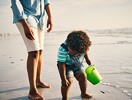 Parenting - child - water safety - beach